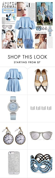 """Senza titolo #4651"" by waikiki24 ❤ liked on Polyvore featuring Jimmy Choo, OMEGA, Maison Margiela, Karen Walker and Alexis Bittar"