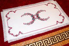 #Embroidery #Table #Cloth  #Wreath of #Flowers от #MiroshnikTatjana