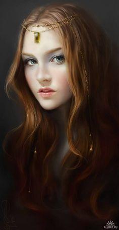 Girl. Digital Art / Ragazza. Meraviglia digitale - by Melanie Delon