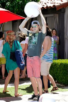 Chord Overstreet at the Guess Hotel pool party