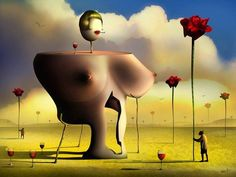 """Digital """"Dali"""" by Marcel Caram Marcel, Wassily Kandinsky, L'art Salvador Dali, Dali Paintings, Surrealism Painting, Art Japonais, Modern Artwork, Magritte, Art Moderne"""