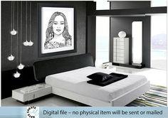 Personalized Digital Portrait. Personalized hand drawn