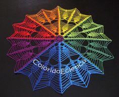 Nove Centro de Mesa Arco Iris by ColoridoEcletico - por Cristina Vasconcellos…