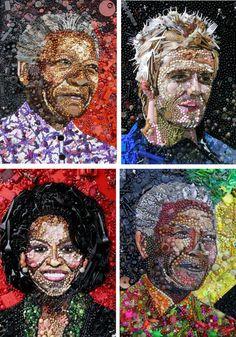 Les portraits recyclés de Jane Perkins ! | HouHouHaHa