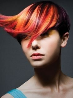 1000+ images about Orange ombre on dark hair on Pinterest ...
