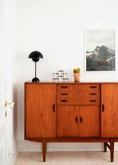 Home tour Vintage et folk à la fois. Une décoration éclectique. Buffet en bois…