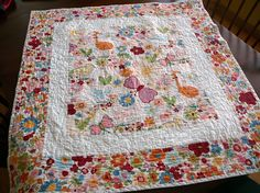 quilt with Alexander Henry fabric; @Cheryl Miller How cute is this??!?!?!!