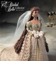 Crochet Bridal Gown .. Fashion Doll .. by ChicVintagePatterns