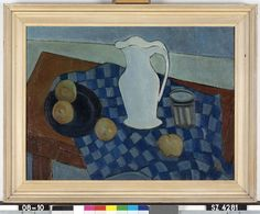Stilleven - N. Boers - 1951  Maat: 60cm x 80cm  Materiaal: olieverf op doek  Inventarisnummer: SZ4281