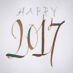 I wish you all a great 2017. May you all be happy and make your dreams come true! #2017 #newyear #newyear2017 #happynewyear #calligraphy #lettering #penlettering #happy2017