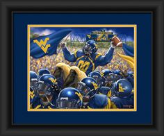 West Virginia Mountaineers Celebration Print 15x18