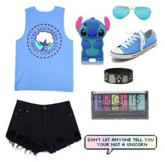"""Untitled #84"" by alexandracarpenter ❤ liked on Polyvore featuring Converse, Boohoo and Ray-Ban"