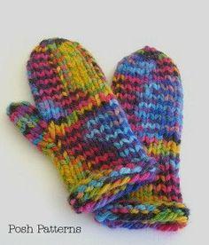 Knitting PATTERN  Easy Mitten Pattern  Instant by PoshPatterns, $3.99
