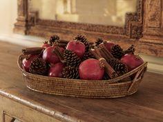 pomegranate decor | POM Council / Crafts & Decor - Pomegranate Harvest Basket