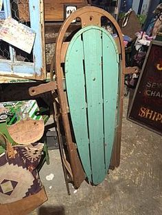 "ART DECO SLED IN EXCELLENT CONDITION, 44""L"