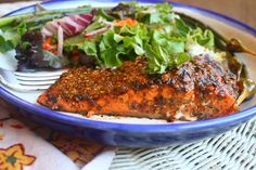oregano marinade on sockeye salmon | the cave woman cafe