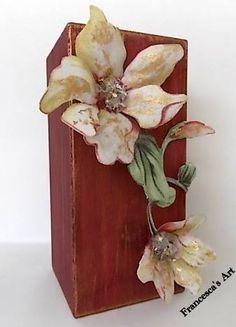 ξύλινο κηροπήγιο με sospeso tranparente https://www.facebook.com/pages/Francescas-Art/347467208699516