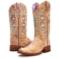 Get PFI's BootDaddy Collection with Circle G Womens Aztec Cross Cowgirl Boots before they're gone! With only 74 pairs made, these fun ladies cowgirl boots will showcase your perfect Western style in a unique way.