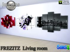 Frezitz wall paintings  Found in TSR Category 'Sims 4 Paintings & Posters'