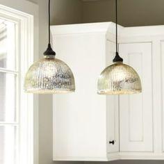 Kitchen pendant lights from Ballard Design.Mercury Glass Shade - Pendant Adapter