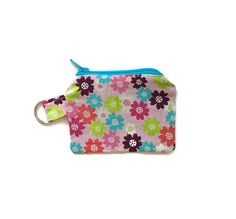 Small Cloth Wallet Keychain Coin Purse Change by TheFuzzyStitch