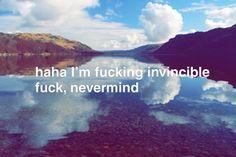 Haha I'm Fucking Invincible Dream Code, Proverbs, Haha, Coding, Ha Ha, Powerful Quotes, Programming, Sayings