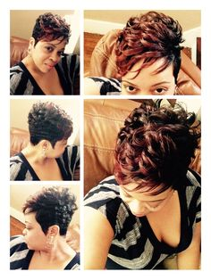 Me all dolled up, fresh cut with fall season inspired color. Style by @cole220 at Salon Shek, Eastpointe, MI.