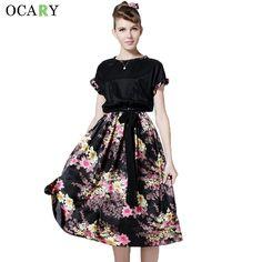 529975abee  gt  gt  Click to Buy  lt  lt  Vintage Women Floral Print Dress