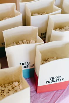 Adorable popcorn bags!