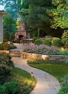 A romantic fairytale garden with a stone path. More ideas . Noch mehr Ideen gibt es auf www.Sp… A romantic fairytale garden with a stone path. There are even more ideas on www. Japanese Garden Design, Modern Garden Design, Backyard Garden Design, Backyard Patio, Garden Landscaping, Landscaping Ideas, Backyard Ideas, Patio Ideas, Pool Ideas