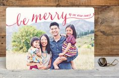 Be Merry Script by Hooray Creative at minted.com