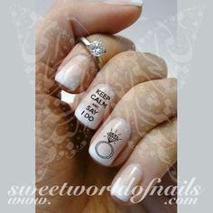 Wedding Nail Art Keep Calm And Say I Do Bride Ring Nail Water Decals Water Slides