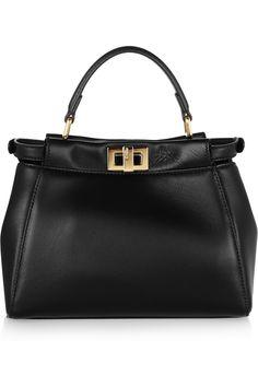 Fendi - Peekaboo mini leather tote 5684075b1b12f