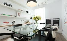 Modern dining room with glass table #IncomeProperty