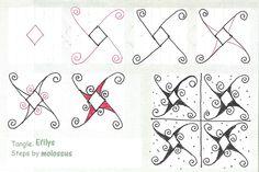 Life Imitates Doodles: My tangle pattern: Efilys