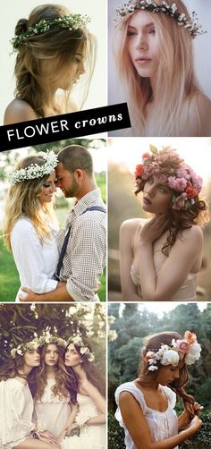The flower crown is one of the most romantic trends of the summer. We love how it evokes ethereal styles of the past while remaining totally modern. This throwback looks great with lace dress and… Chic Wedding, Wedding Styles, Dream Wedding, Romantic Hairstyles, Bride Hairstyles, Floral Hair, Floral Crown, Charlie Harper, Hair Inspiration
