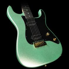 Charvel Custom Shop Nitro San Dimas Electric Guitar Seafoam Sparkle with…
