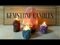 DIY Large Gemstone Candles | Crystal Candle Tutorial | by Fluffy Hedgehog - YouTube