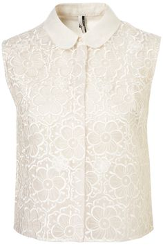 Topshop embroidered flower shirt