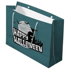 Happy Halloween Large Gift Bag - Halloween happyhalloween festival party holiday