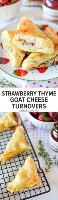 Strawberry Thyme Goat Cheese Turnovers #EasyHolidayEats #ad |  Simply Whisked | Melissa Belanger