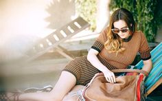 Leighton Meester, American singer, beautiful woman, chaise, American actress