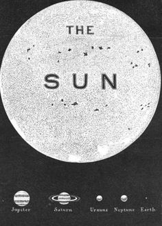 Light is nowhere near.  [Image: Amédée Guillemin, The sun and the planets - comparative dimensions from The sun, 1870]