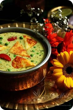 Nawabi Paneer Curry Recipe | Simple Paneer and Peas Curry Recipe -Nawabi Paneer Curry (Shallow fried Indian cottage cheese and green peas cooked in rich, creamy coconut and cashew nut gravy)