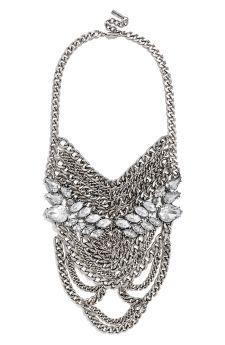BaubleBar 'Crystal Sheba' Bib Necklace   No