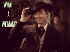 When I was very young, Clark Gable as Rhett Butler ('Gone With The Wind,' was my first 'celeb' crush (he was deceased at the time). Here he watches as Scarlett drives off to her lumber mill via Shantytown - alone. I Movie, Movie Stars, Wind Quote, Rhett Butler, Tomorrow Is Another Day, Scarlett O'hara, Clark Gable, Gone With The Wind, Old Hollywood