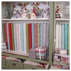 Jan and I have been busy this morning putting out lots of new fabric including Christmas! Keeping Christmas collections bright and happy this year! I'm sure we will change it around 100 times before December, but for now this spot is its home. #showmethemoda #shoplocal #quiltshop #onceuponahomespunxmas #hollyhillquiltshoppe #westlinn #christmasfabric