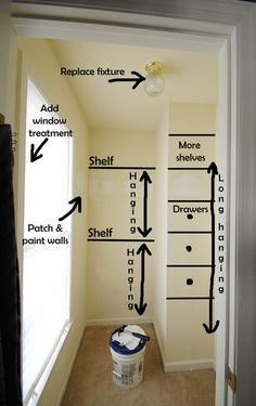 Closet-plans #closets #organizing