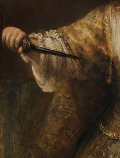 Detail from Lucretia by Rembrandt van Rijn 1664 oil on canvas National Gallery of Art, Washington, D. Rembrandt, National Gallery Of Art, Art Gallery, Baroque Painting, Dutch Golden Age, Emo, Classic Paintings, Dutch Painters, Classical Art