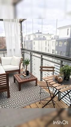 Small balcony ideas, balcony ideas apartment, cozy balcony design, outdoor balcony, balcony ideas on a budget Condo Balcony, Apartment Balcony Decorating, Apartment Balconies, Apartment Living, Balcony Window, Apartment Design, Interior Balcony, Balcony Railing, Apartment Ideas